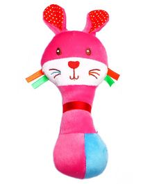 1st Step Rabbit Face Rattle Toy - Pink
