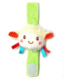 1st Step Doll Face Plush Wrist Rattle Toy - Green