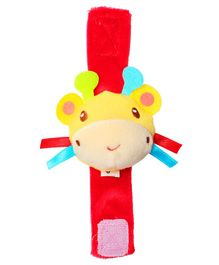 1st Step Giraffe Face Wrist Rattle Toy - Red