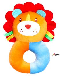 1st Step Lion Face Plush Ring Rattle Toy - Yellow
