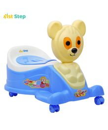 1st Step Musical Potty Seat With Wheels - Blue