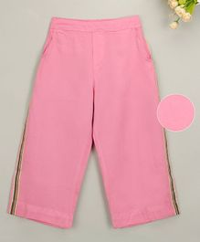 Budding Bees Side Striped Full Length Pants - Pink