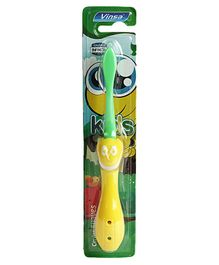 Passion Petals Smile Design Foldable Toothbrush - Yellow Green