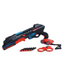 Webby High Speed Battery Operated Toy Gun with Goggles & Handcuff - Black & Red