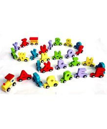 Webby Wooden Educational Alphabets Train Toy Multicolor -  27 Pieces