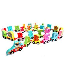 Webby Wooden Educational Printed Alphabets Train Toy Multicolor - 27 Pieces