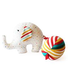 Shumee Elephant and Ball Rattle Plush Toy - Multicolor