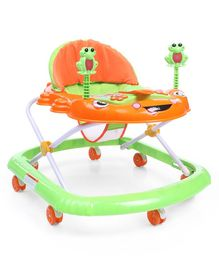 Baby Walker With Music & Light - Green Orange