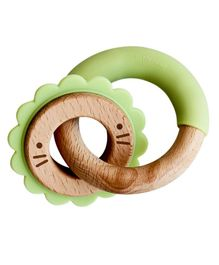 Little Rawr Premium Disc & Ring Teether - Lion