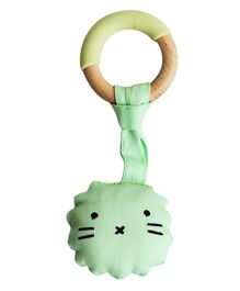 Little Rawr Wood & Silicon Teether with Soft Toy - Lion