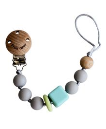Little Rawr Silicone Pacifinder Beads with Clip Holder - Grey