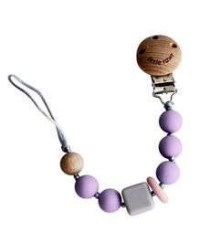 Little Rawr Silicone Pacifinder Beads with Clip Holder - Lavender