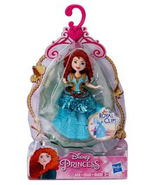 Disney Princess Merida Doll With Royal Clips Blue - Height 8 cm