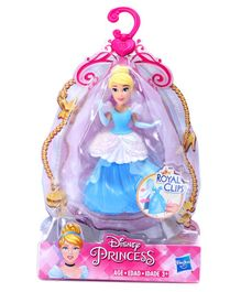 Disney Princess Cinderella Doll With Royal Clips Blue - Height 8 cm