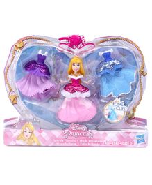 Disney Princess Aurora Doll With 3 Glittery Dresses -  Height 8.5 cm
