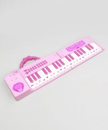 Fashion Princess Electronic Foldable Piano With Microphone - Pink