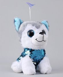 Dimpy Stuff Puppy Soft Toy White - Height 17 cm