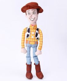 Dimpy Stuff Woody Soft Toy Blue Yellow - Height 35 cm