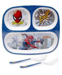 Servewell Feeding set Spider Man Theme Pack of 3 - Blue
