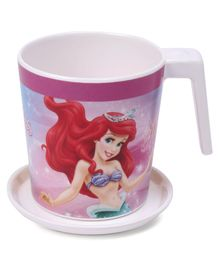 Servewell Disney Princess Print Mug and Luna Coaster Set of 2 - Pink