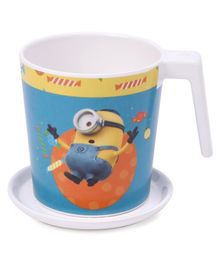 Servewell Minions Print Mug and Luna Coaster Set of 2 - Blue