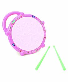 Flash Drum Toy With Sticks - Pink