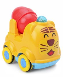 Tiger Face Push & Go Friction Vehicle - Red Yellow