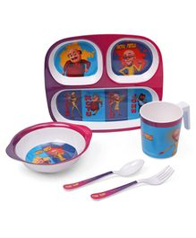 Motu Patlu Print Feeding Set of 5 - Blue