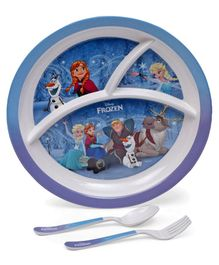 Disney Frozen Print Kids Feeding Set of 3 - Blue