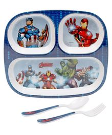 ervewell Feeding set Avengers Theme Pack of 3 - Blue