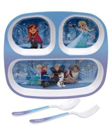Servewell Feeding set Disney Frozen Theme Pack of 3 - Blue