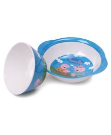Peppa Pig Print Servewell Ear Bowl and Cone Bowl - Blue