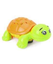 Musical Turtle Shaped Projector Toy - Green Orange