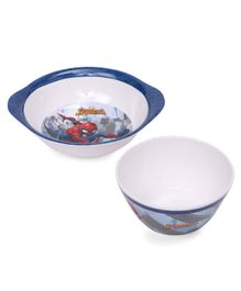 Marvel Spider Man Print Servewell Ear Bowl and Cone Bowl - Blue White