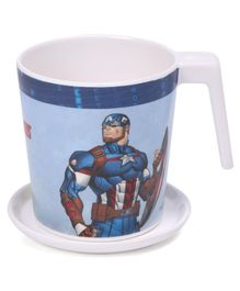 Servewell Avengers Captain America Print Mug and Luna Coaster - Blue