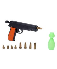 Nuage Fighter Gun With Bullets & Glow In The Dark Target Brown Green - Length 22 cm