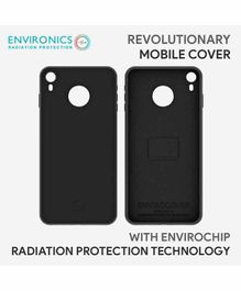 Envirochip Silicon Back Cover With Radiation Protection Technology For iPhone XR - Black