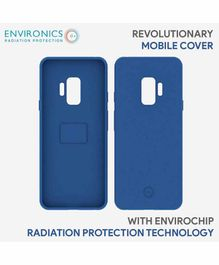 Envirochip Silicon Back Cover With Radiation Protection Technology For Samsung S9 - Blue