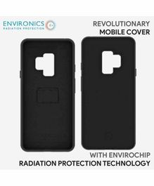 Envirochip Silicon Back Cover With Radiation Protection Technology For Samsung S9 Plus - Black
