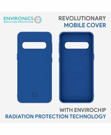 Envirochip Silicon Back Cover With Radiation Protection Technology For Samsung S10 - Blue