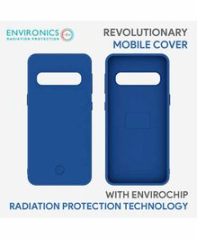 Envirochip Silicon Back Cover With Radiation Protection Technology For Samsung S10 Plus - Blue