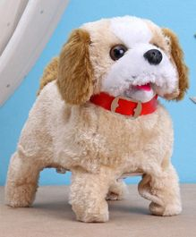 Musical Puppy Soft Toy Cream - Height 17.5 cm