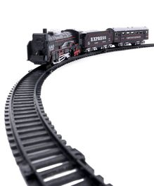 Battery Operated Train Play Set Pack of 13 - Black