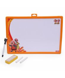 Motu Patlu Theme 2 in 1 Writing Board & Slate - Orange
