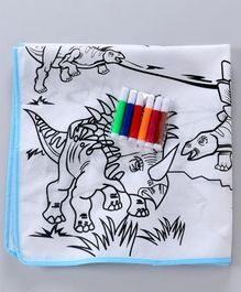 Fantastic Coloring Mat With Sketch Pens - Multicolor