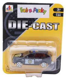 Die Cast Free Wheel Police Car Toy - Navy