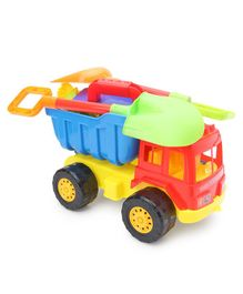 Beach Set With Truck Toy Multicolour - Pack of 10 Pieces