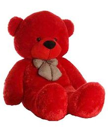 Frantic Teddy Bear Soft Toy Red - Height 115 cm