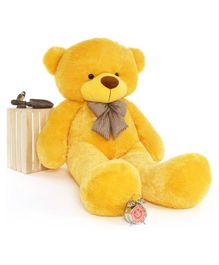 Frantic Teddy Bear Soft Toy Yellow - Height 90 cm