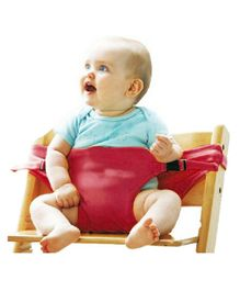 Magic Seat Baby Portable Safety Seat Belt for Feeding Baby - Maroon Red